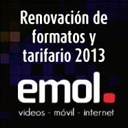Emol: Nuevos tamaños en los formatos de alto impacto y Tarifario 2013