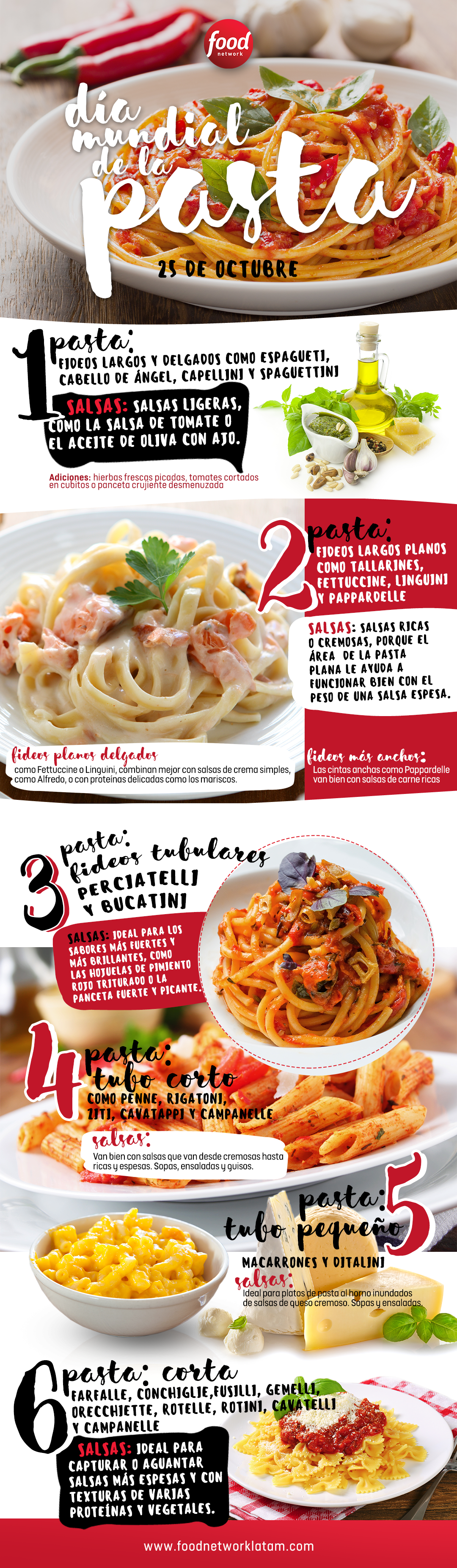 Ideas para celebrar el d a de la pasta el mercurio media for Ideas para cocinar pasta