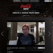 """Coca Cola Zero y su última campaña interactiva """"Crea un baile desde Zero"""""""