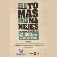 Conoce la nueva campaña de Easytaxi: Si tomas no manejes