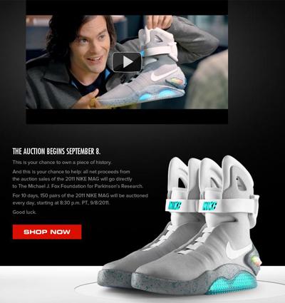 """Nike subasta las míticas zapatillas de la película """"Volver al Futuro ..."""